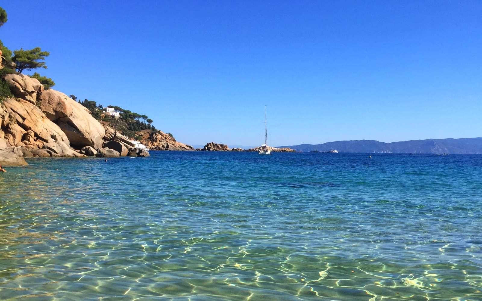 acqua cristallina spiaggia delle cannelle isola del giglio